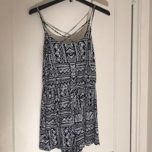 H&M black and white romper